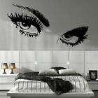 LARGE WOMAN EYES EYE SALON WALL MURAL TRANSFER ART CUT MATT VINYL STICKER  DECAL