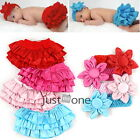 Free Shipping Girl Baby Ruffle Pants Skirt + Headband 0-24M Bloomers Nappy Cover