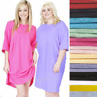 Ladies color T-shirt Sleep shirt Beach cover up tee Night shirt Gown 100% cotton