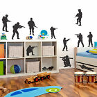 12 x Army Soldier Childrens Wall Art - Toys - Stickers - Bedroom Living Room T1