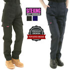 Ladies Cargo Combat Work Trousers Black or Navy Size 8 to 20