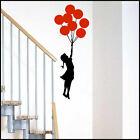 LARGE BANKSY GIRL BALLON CHOICE 14 COLOURS BEDROOM WALL MURAL ART STICKER DECAL