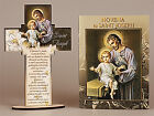 CRUCIFIX CROSS & NOVENA BOOK St SAINT JOSEPH / THERESA / ANTHONY / PIO