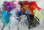 50 Organza Gift Bag Jewelry Packing Pouch Wedding Party Bridal Favor 4 size pick