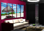 Beach Hut Wall Art On Huge Quality Canvas Set Of 5 Size 150x90cm READY TO HANG