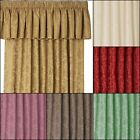 "LANA DAMASK 3"" TAPE TOP PELMETS IN MULTIPLE COLOURS & SIZES TO FIT YOUR CURTAINS"