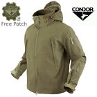 Condor 602 Tactical Summit SoftShell Jacket Cold Weather YKK Zipper w/ Patch Tan