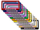 All My Kids Have Paws Prints Dogs Cats Pink License Plate Frame Colors