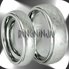 His and Hers Celtic Knot Tungsten Ring Set Stepped Edge Domed Wedding Bands