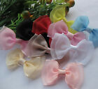 100/20pcs Fancy Organza ribbon bow wedding baby doll E112 appliques Lots U pick