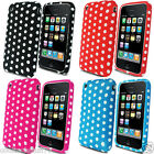 Silicone Mobile Phone Case For Apple iPhone 3G 3GS Stylish Polka Dots TPU Cover