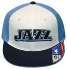 New! Utah Jazz - Flatbill Fitted Hat - 3D Embroidered Cap - Reebok