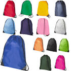 2 x Premium School Drawstring Book Bag Sport Gymsac Swim PE Backpack 16 Colours
