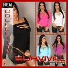 NEW SEXY WOMENS HOT CLUB WEAR PARTY LONG SLEEVE OFF SHOULDER TOP SIZE 6-8-10