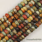Gorgeous Picasso Jasper Abacus Rondelle Loose Beads 15.5""