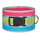 Casual Canine Reflective Neoprene Water Resistant Fashion Colors Dog Collars
