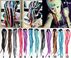 COLORFUL Dreadlock Hair Extensions ponytail Handmade BRAND NEW COLOR CHOICE