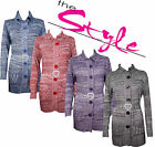 Womens Ladies Knitted Long Sleeve Pockets Button Belted Cardigan Top 8 10 12 14