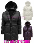 NEW GIRLS CHILDRENS QUILTED PADDED HOODED KIDS JACKET COAT AGE 7-13