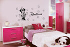 PERSONALISED DISNEY MINNIE MOUSE WALL  STICKERS GIRLS NAME (14 stars)(M01)