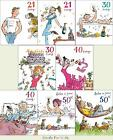 Quentin Blake Birthday Cards Special Age 21st, 30th, 40th, 50th Male & Female