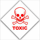 Toxic - Health and Safety Adhesive Vinyl Sticker - Warning Danger Symbol Sign