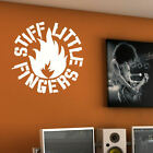 LARGE STIFF LITTLE FINGERS  LOGO WALL ART STICKER TRANSFER STENCIL VINYL DECAL