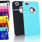 LUXURY DELUXE CHROME TRIM PLASTIC BACK COVER CASE FOR APPLE IPHONE 4S & 4 4G