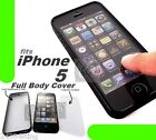 CRYSTAL CLEAR FRONT AND BACK TOUCH HARD BACK FULL COVER BUMPER CASE for APPLE