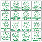 MULTI LISTING-Recycling Stickers-Environment Label-Recycle Logo External Signs