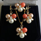 20 colors-8mm white/pink/black/blue/red/yellow shell pearl earring pendant ring