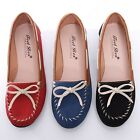 BN Womens Comfort Casual Walking Bowed Flats Shoes Loafers Moccasin Espadrilles