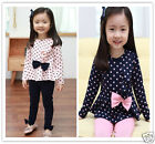 New outfit Long Sleeve top & legging set for girls 2-7Yrs