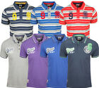 Mens UCNY Pique and Stripe Polo - 2 Style-7 Colours