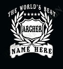 Archer T-Shirt Personalised Add Name Great Gift Bespoke Archery T-Shirt Arrows