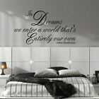LARGE HARRY POTTER QUOTE DREAMS ENTER OWN WORLD WALL DECAL STICKER ART TRANSFER