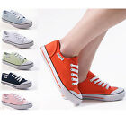 NEW DUNLOP WOMENS CANVAS LADIES PUMPS GIRLS PLIMSOLLS TRAINERS LACE UP SHOES UK