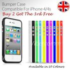 NEW STYLISH GRIP SERES BUMPER CASE COVER FOR APPLE IPHONE 4 4S BUY 2 GET 3 COMBO
