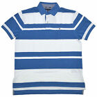 Tommy Hilfiger Polo Shirt Mens Casual Classic Fit Striped Blue Stripes V131