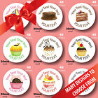 48 30mm All Occasions cupcake/cake birthday business stickers many designs