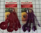KitchenAid Measuring Spoon Set 5 Nylon Assorted Colors Silicone Grip Handle NEW