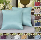 """( 2-pack ) 18"""" X 18"""" Solid Faux Silk Decorative Pillow / Cushion Covers"""