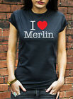I Love Merlin Tshirt Wizards Legends Arthur Camelot Dragon Heart T-Shirt C0075