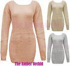 NEW LADIES STUDDED JUMPER CARDIGAN LOOK WOOL KNITTED WOMENS SHEER DRESS TOP 8-14