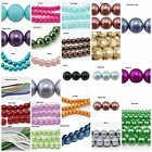 6mm, 8mm x 200pc Glass Pearl Beads Round Loose, Choice of Colours