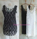 Lace Sheer Floral See Through Sexy Sleeveless Vest Scoop Neck Pullover