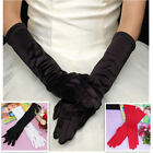 """2013 14 """" Satin Opera Bridal Gloves Party Costume Wedding Lady Women 6 colors"""