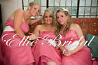 PLUS SIZE LONG DARK PINK BRIDESMAID DRESS WITH IVORY OR WHITE SASH. PRE ORDER