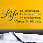 LIFE QUOTE, Dancing, Large Wall Sticker, Decal, Wallart, SS122