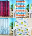 POLYESTER FUNKY COLOURED SHOWER CURTAIN  WHALE MOSAIC JACQUARD DANDELION